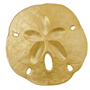 14k Yellow Gold 27mm Large Sanddollar Pendant
