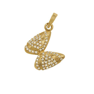 "14k Yellow Gold ""Sea Jewels"" Pave Diamond Coquina Shell Pendant, 62D=.38tw"
