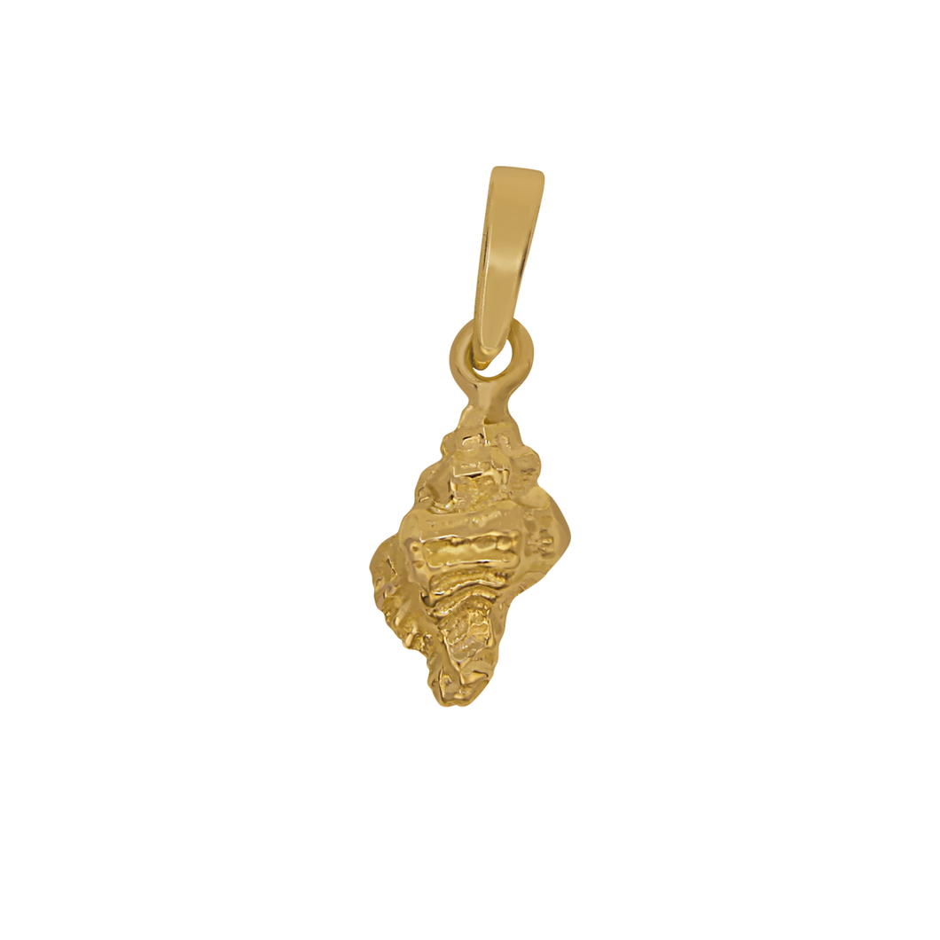 14k Yellow Gold Mini Apple Murex Pendant
