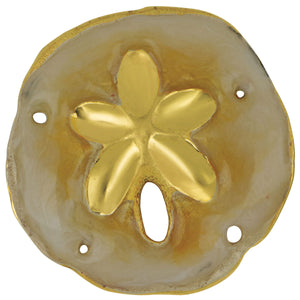 14K Yellow Gold 27mm Sanddollar Enamel Pendant