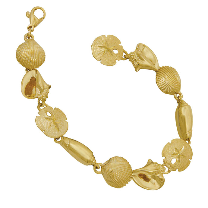 14k Yellow Gold Large Quad Bracelet