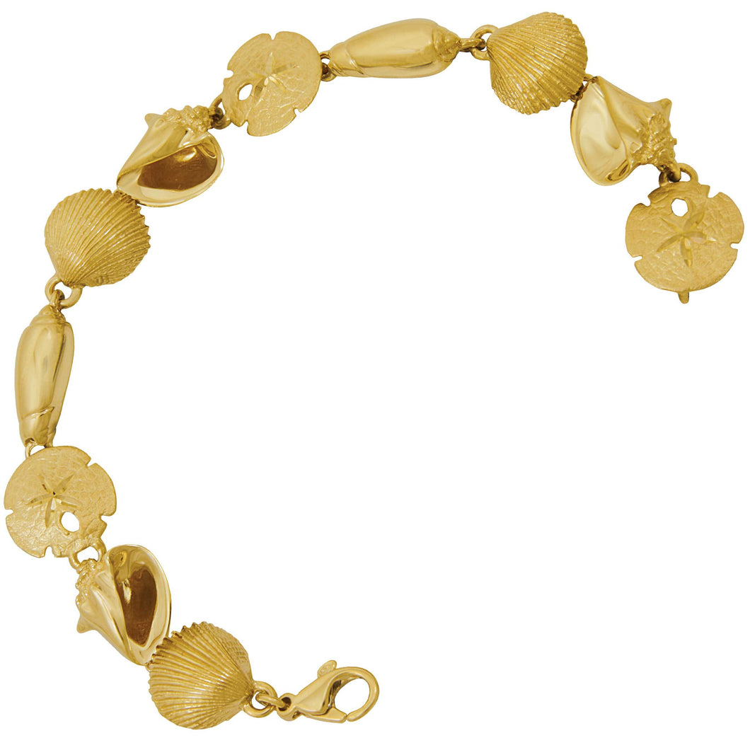 14k Yellow Gold Sanibel Bracelet