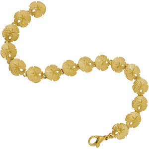 14k Yellow Gold Tiny Sanddollar Bracelet