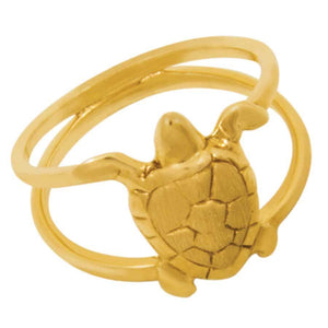 14k Yellow Gold Small Turtle Ring