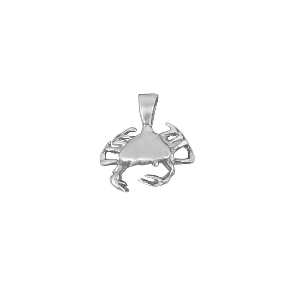 Sterling Silver Tiny Crab Pendant
