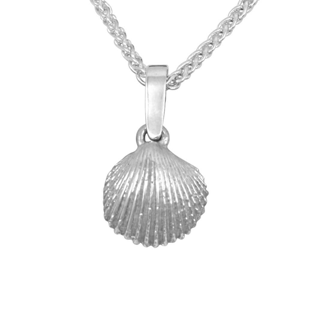 Sterling Silver Medium Pectin Shell Pendant