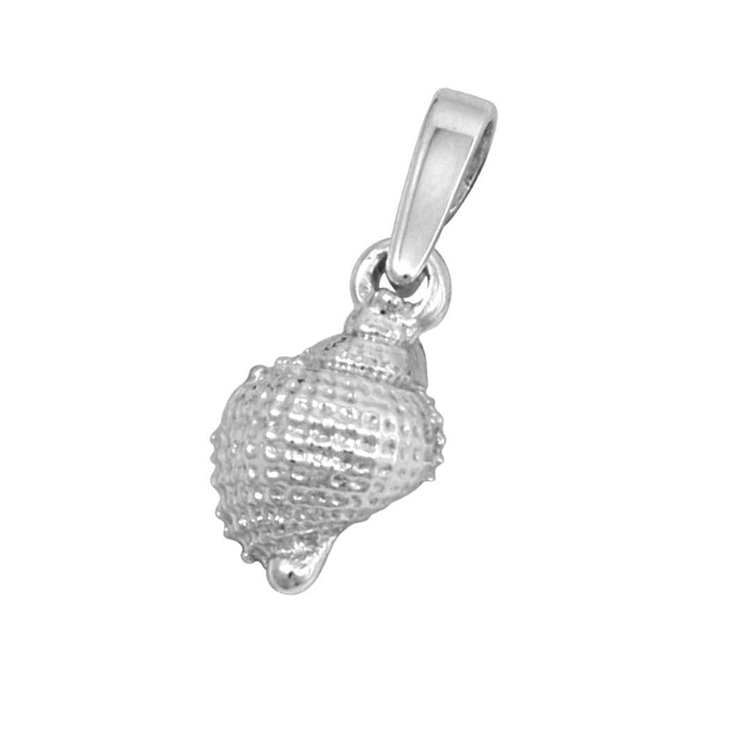 Sterling Silver Tiny Nutmeg Shell Pendant