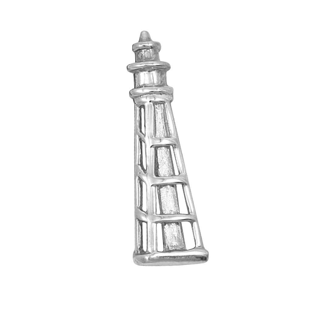 Sterling Silver Medium Lighthouse Pendant