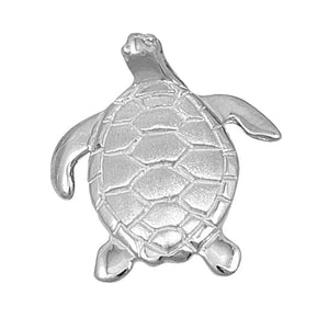 Sterling Silver Medium Turtle Pendant