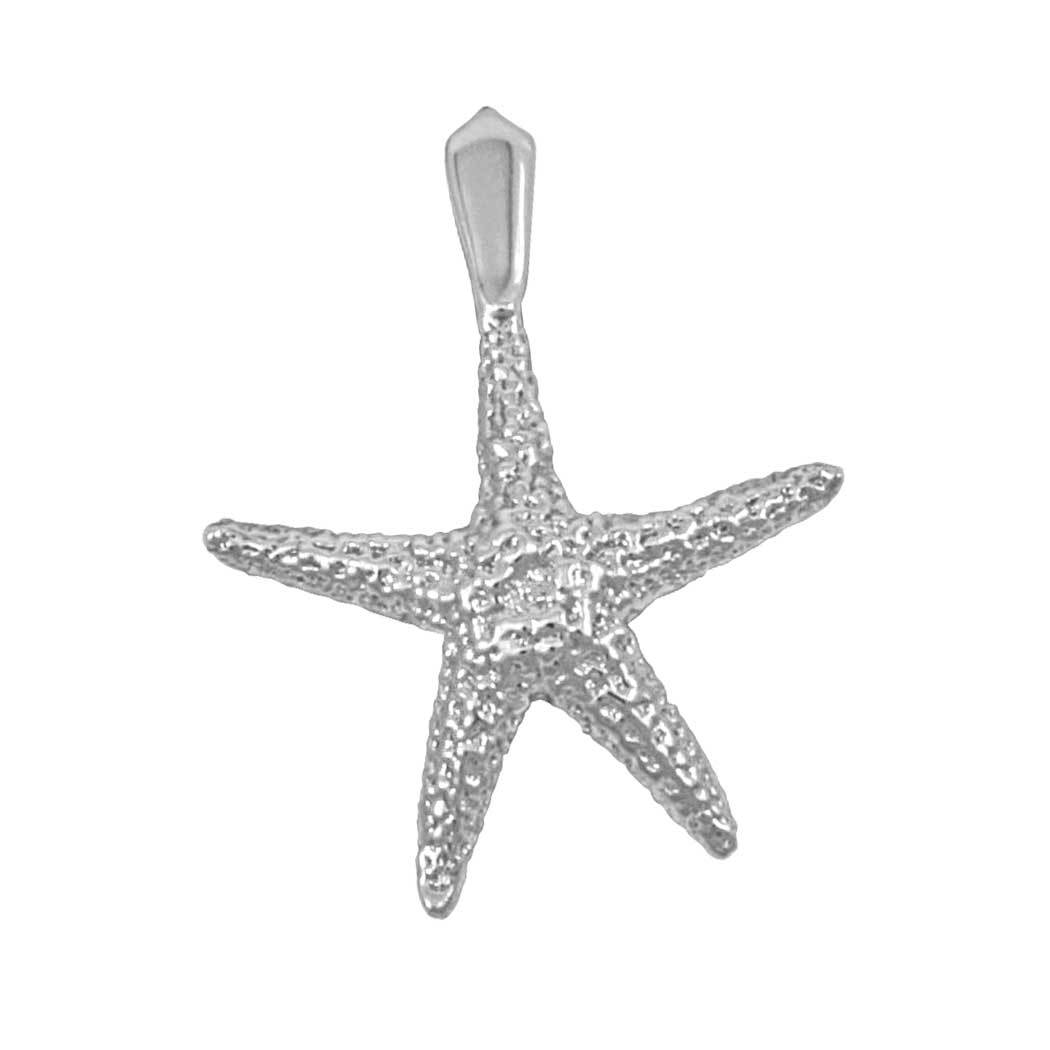 Sterling Silver Large Real Starfish Pendant