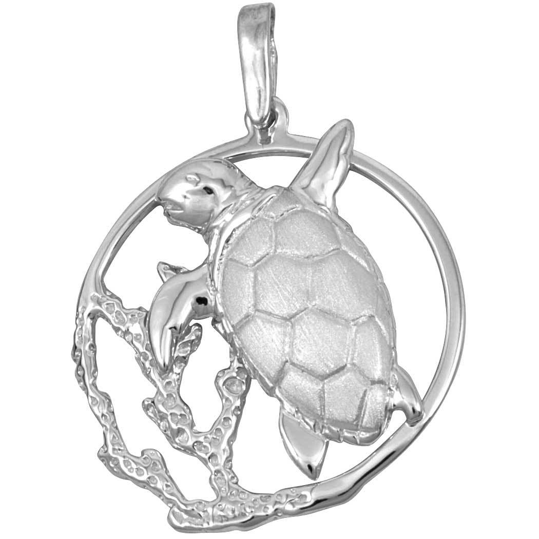 Sterling Silver Turtle Reef Pendant