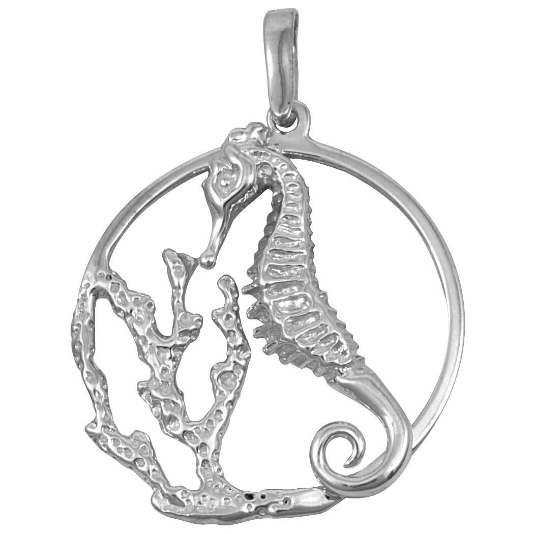 Sterling Silver Seahorse Reef Pendant