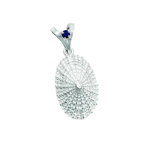"09 September ""Birthshell"": Sterling Silver Pendant: The Limpet Shell with Sapphire"