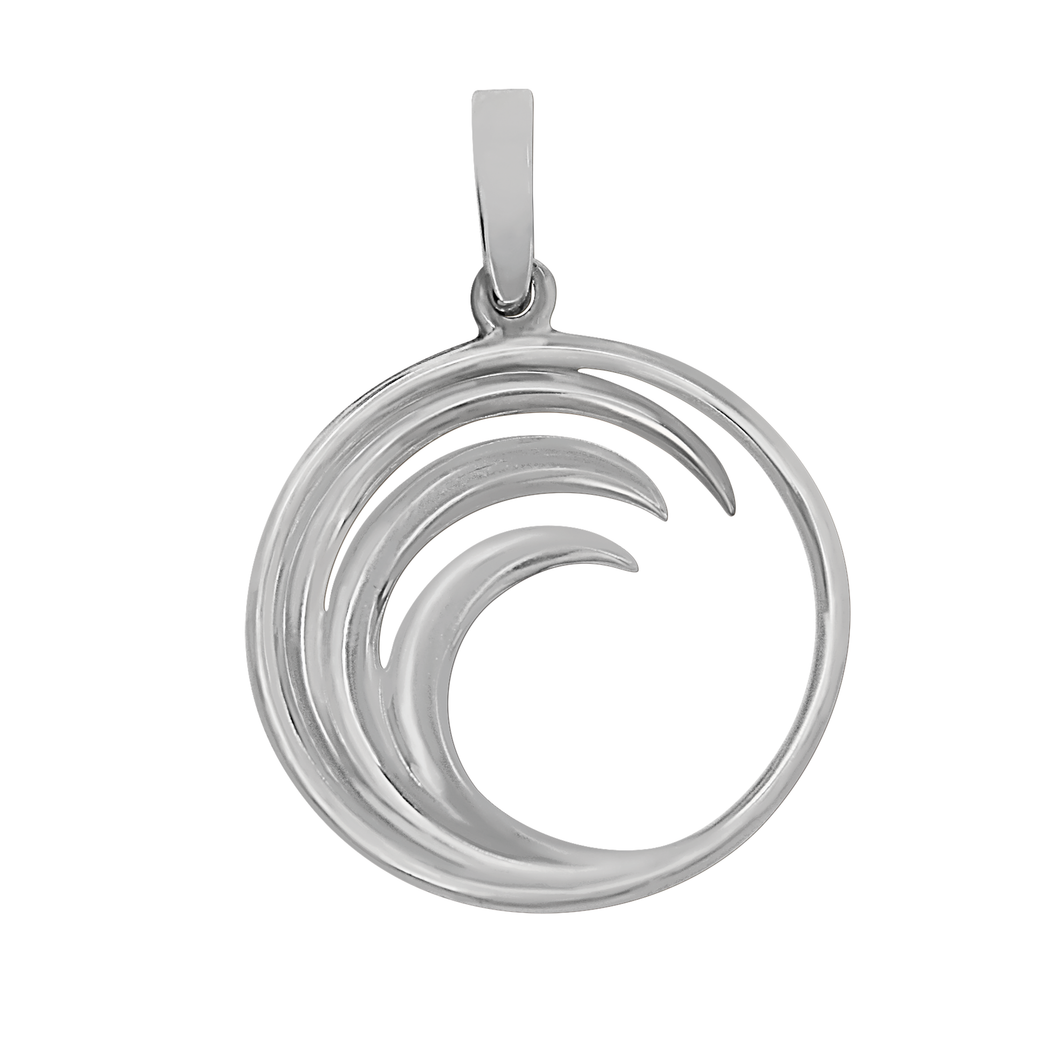Sterling Silver Circle Wave Pendant