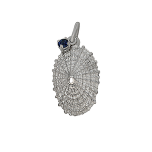 "09 September ""Birthshell"": Sterling Silver Charm: The Limpet Shell with Sapphire"