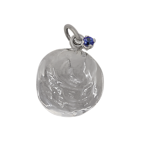 "12 December ""Birthshell"": Sterling Silver Charm: The Jingle Shell with Tanzanite"