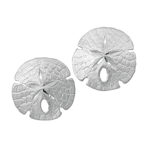 Sterling Silver 14mm Sanddollar Earrings