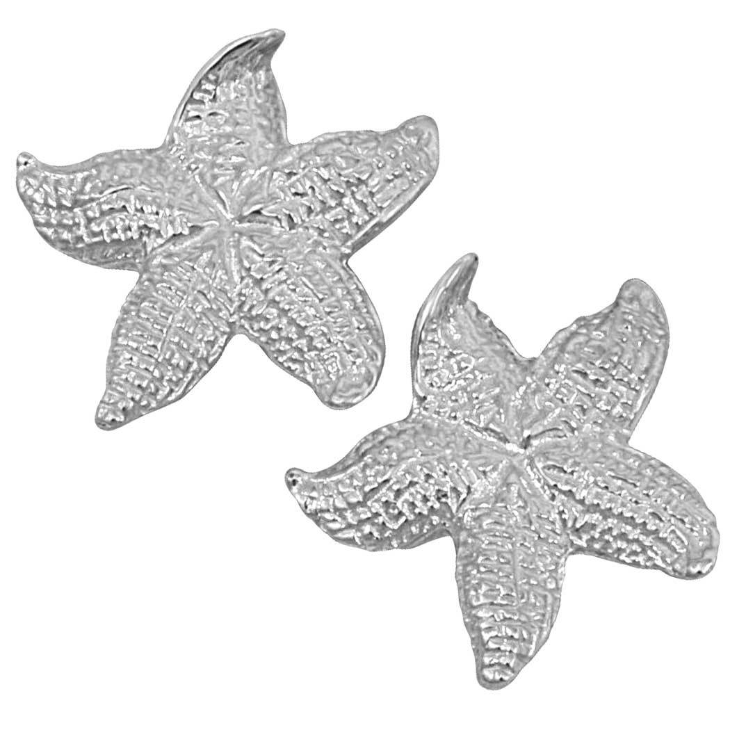 Sterling Silver Stylized Starfish Earrings