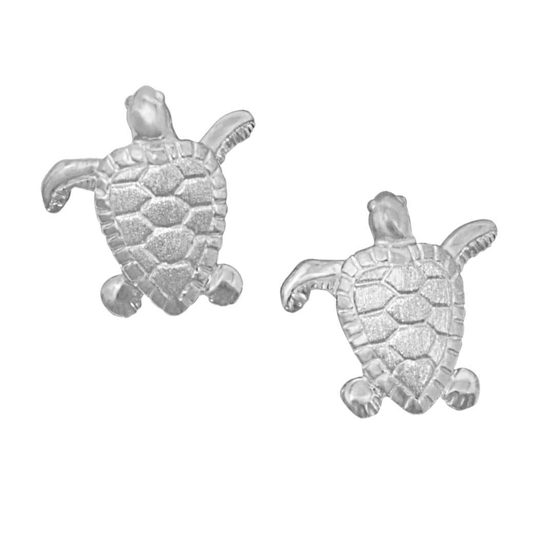 Sterling Silver Small Turtle Earrings