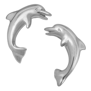 Sterling Silver Small Dolphin Earrings