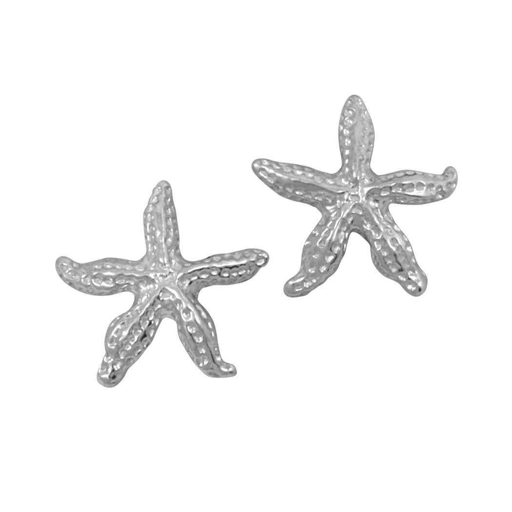 Sterling Silver Small Starfish Earrings