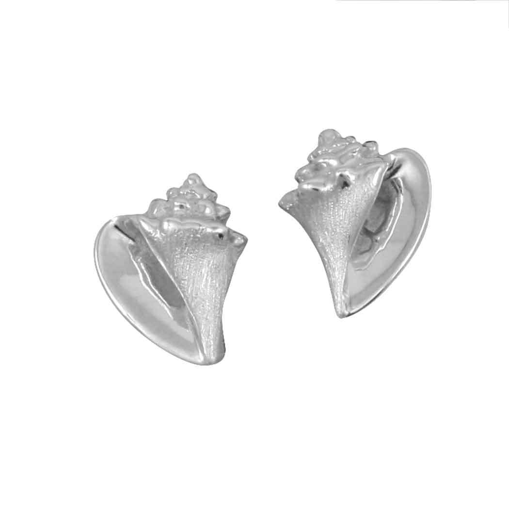 Sterling Silver Small Conch Post Earrings