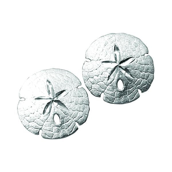 Sterling Silver 20mm Sanddollar Earrings