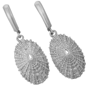 Sterling Silver Large Limpet Euro Wire Earrings