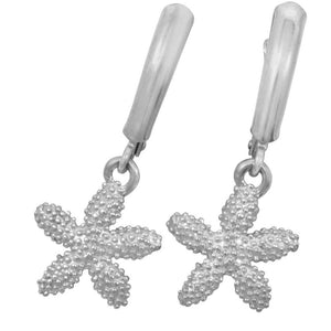 Sterling Silver Knobby Starfish Euro Wire Earrings