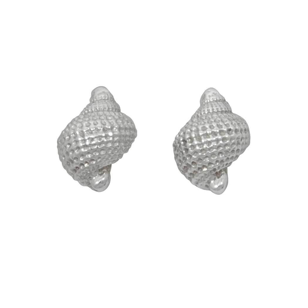 Sterling Silver 1/2 Tiny Nutmeg Earrings