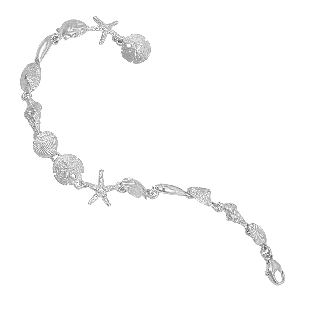 Sterling Silver Tiny Sealife Bracelet
