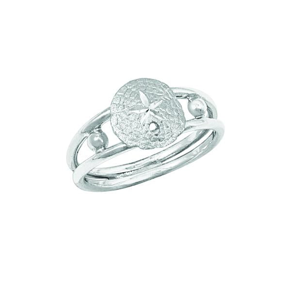 Sterling Silver Small Sanddollar Ring