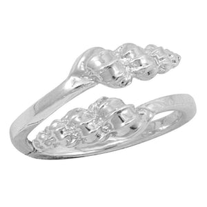 Sterling Silver Double Wentletrap By-Pass Ring