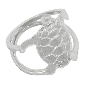 Sterling Silver Medium Turtle Ring
