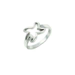 "Sterling Silver Large Starfish ""Tanline"" Ring"