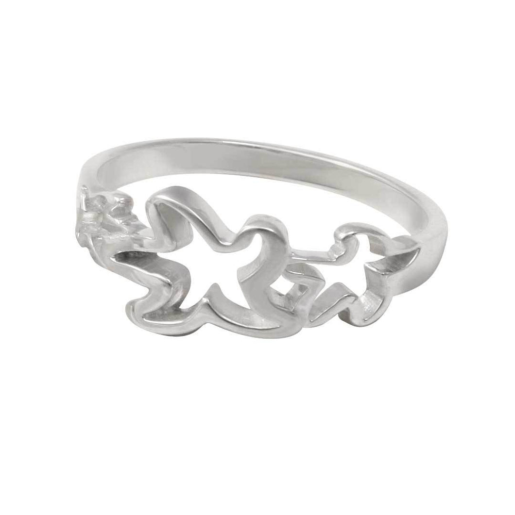 Sterling Silver Small Triple Starfish