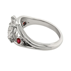 "07 July ""Birthshell"" Sterling Silver Ring: The Lion's Paw with Rubies"