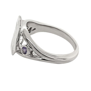 "12 December ""Birthshell"" Sterling Silver Ring: The Jingle Shell with Tanzanites"