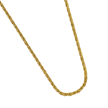 "Load image into Gallery viewer, 14K Yellow Gold 18"" 1.2mm Parisian Wheat Chain"