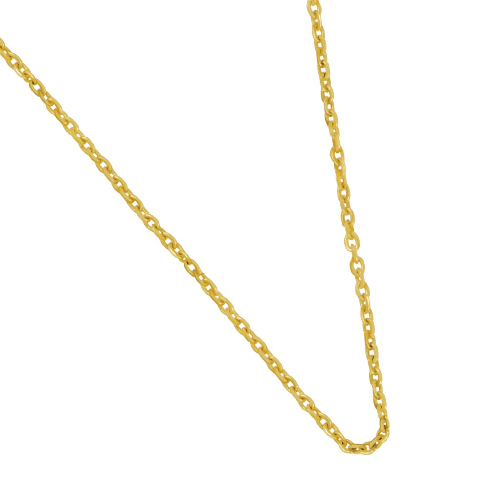 14 Karat Yellow Gold 1.1mm diamond cut cable chain 18