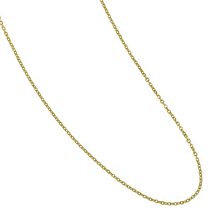 "14K Yellow Gold 16-18"" Adjustable 1.1mm D/C Cable Link Chain"