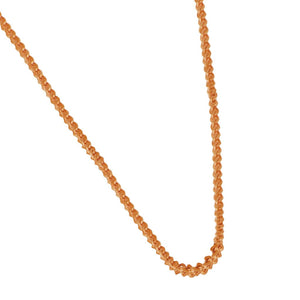 "14 K Rose Gold 1.2mm Foxtail Singapore 18"" Chain"