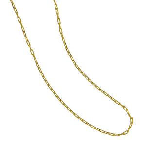 "14 Karat Yellow Gold Diamond Cut Long Link 18"" Chain"