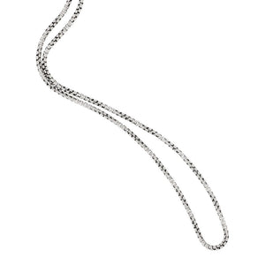"Sterling Silver 18"" Medium Round Box Venetian Chain"
