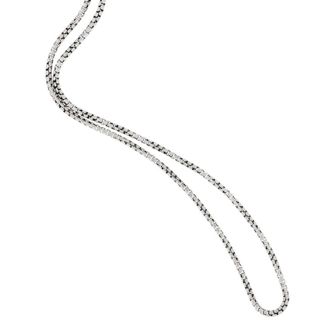 Sterling Silver 1.7mm Medium Venetian Box Chain 18