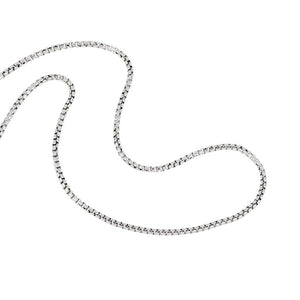 Sterling Silver 1.2mm Round Venetian Chain 18""