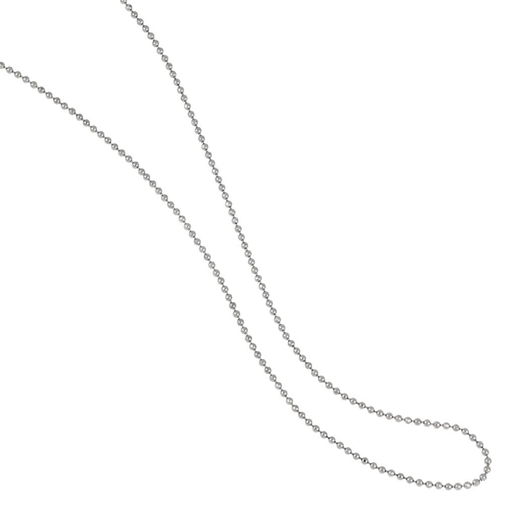 Sterling Silver Bead Chain 18