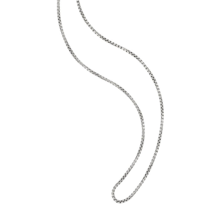 Sterling Silver Small Box Chain 18