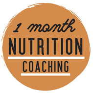 1 MONTH OF NUTRITION COACHING