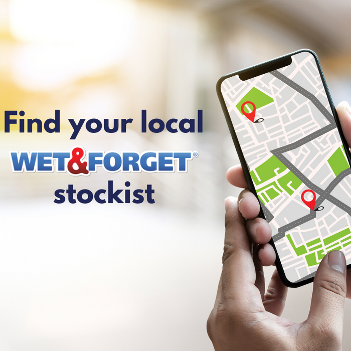 Find your local Wet & Forget Stockist